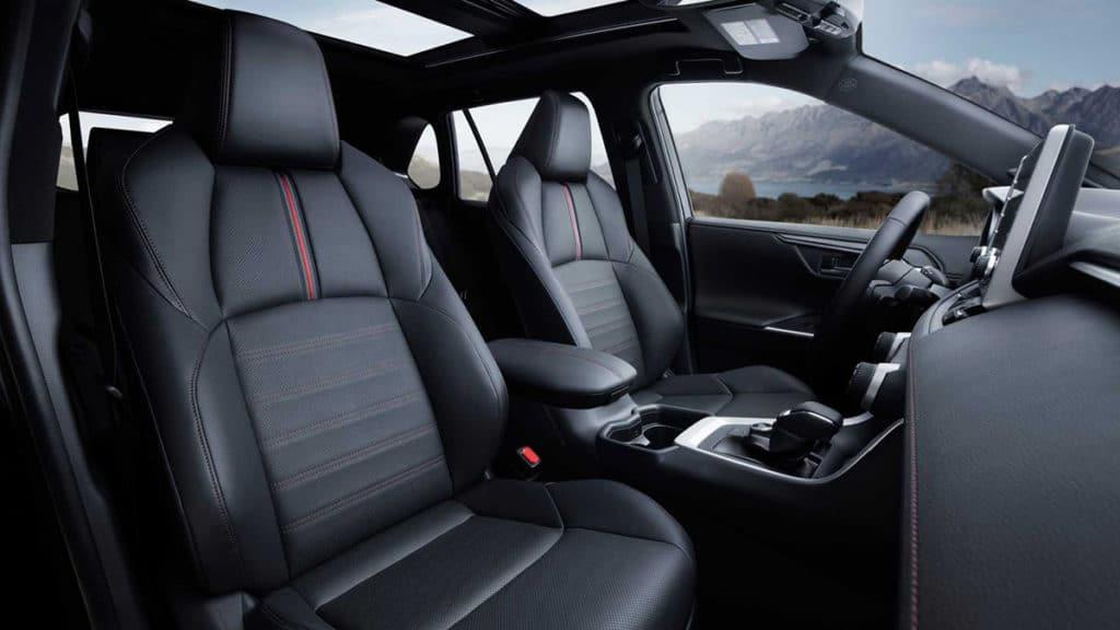 The 2021 Toyota RAV4 Prime heated front seats.