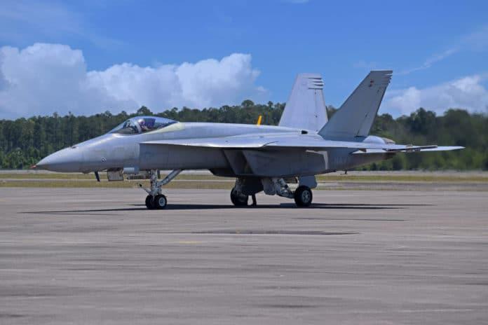 Boeing's first Super Hornet test aircraft.