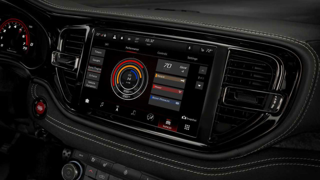 The center console has a new gear selector and a 10.1-inch screen for the infotainment system.