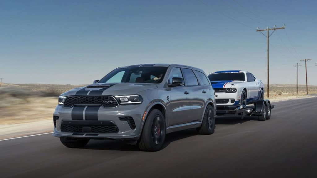 Durango SRT Hellcat is also capable of towing up to 3,946 kg.