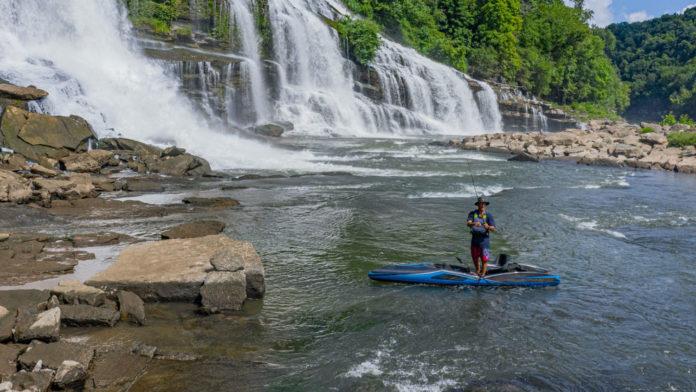 Apex Watercraft's Tyr is an advanced carbon fiber fishing kayak.