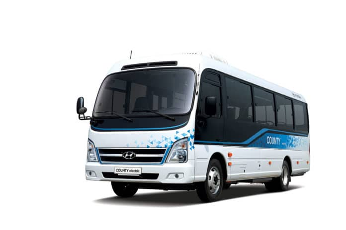 Hyundai Motor launches 'County Electric' electric minibus.