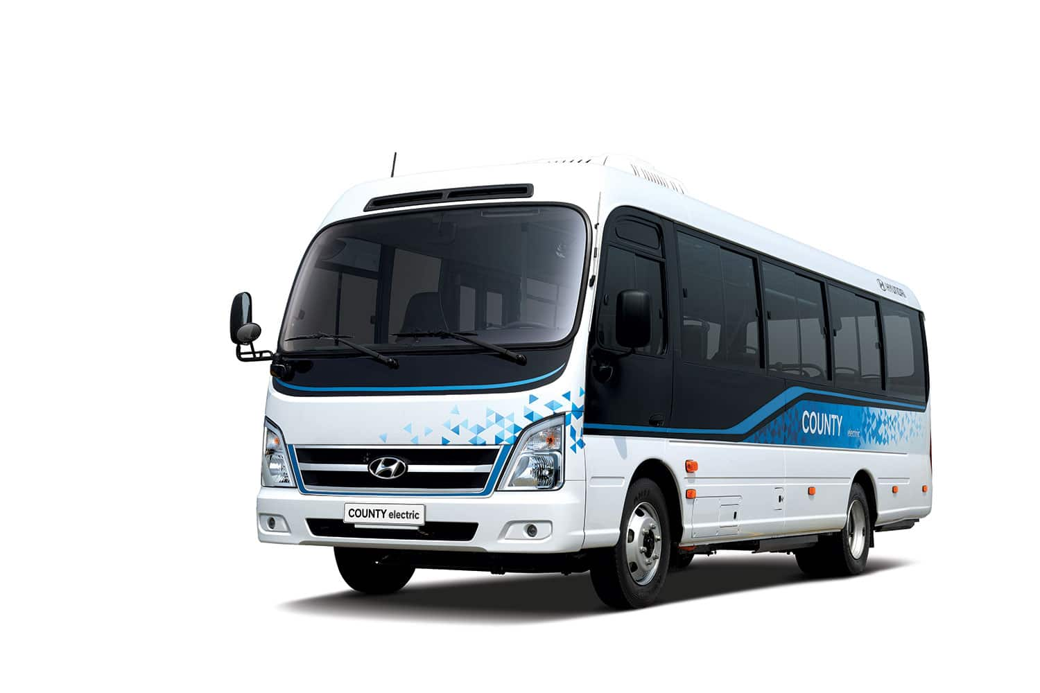 County Electric, Hyundai's first electric minibus with 250 km of autonomy