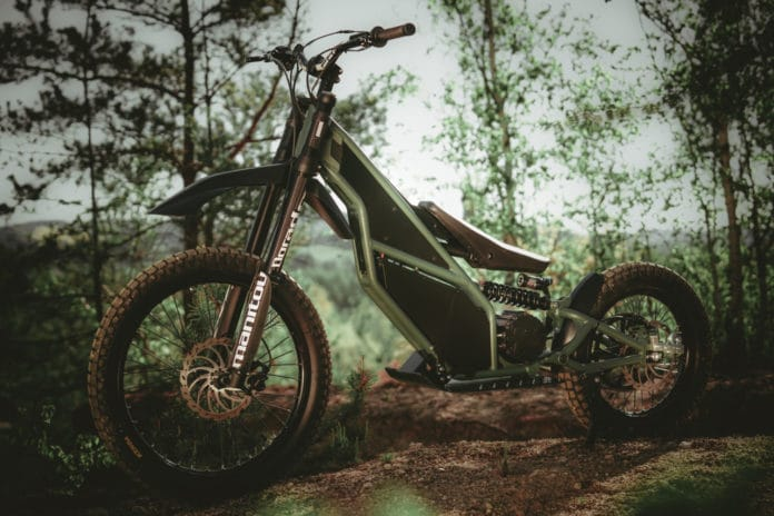 Kuberg Ranger, an electric off-road motorcycle with 50 mph of range.
