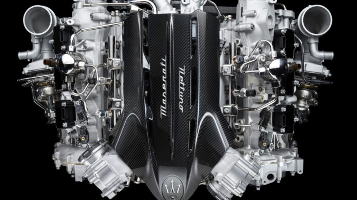 Maserati's all new Nettuno engine adopts Formula 1 technology for a road car.