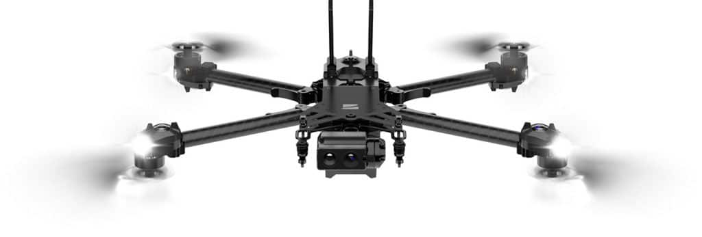 The drone offers a flight time of 35 minutes, 3D scanner and 100x zoom.