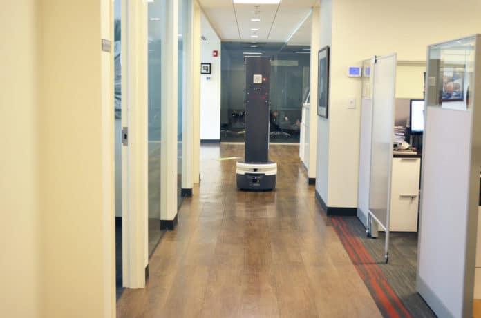 Meet SmartGuardUV, an autonomous, broad spectrum UV disinfection robot.