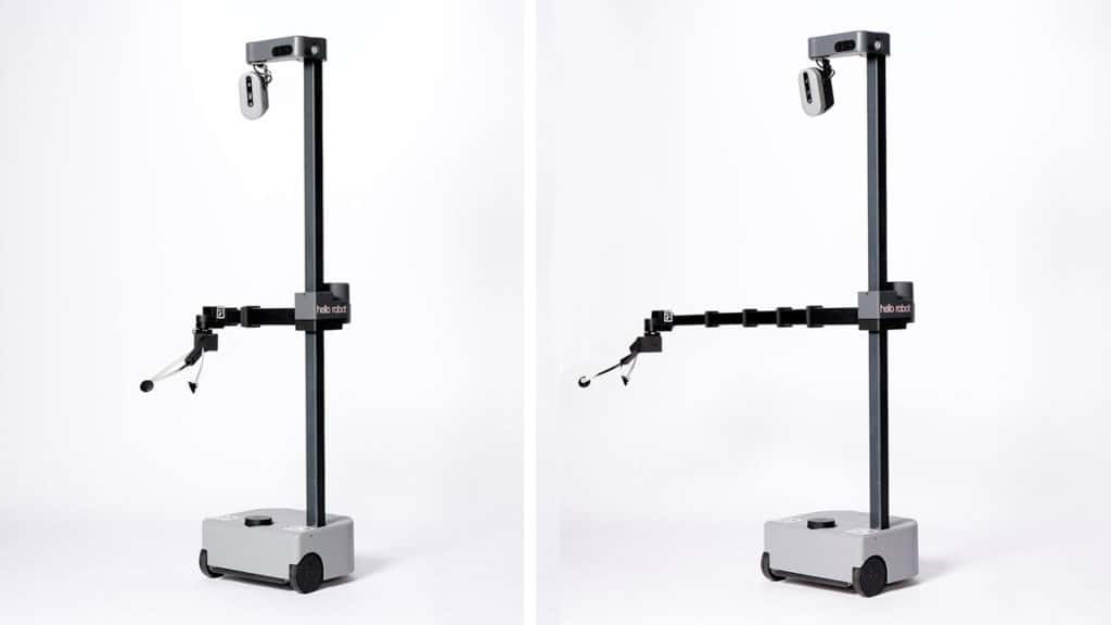 Stretch manages everything with the help of a compact wheeled-base and a slim telescopic arm