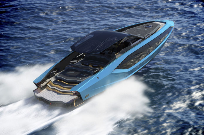 Lamborghini unveils luxury sports yacht 'Tecnomar for Lamborghini 63'.