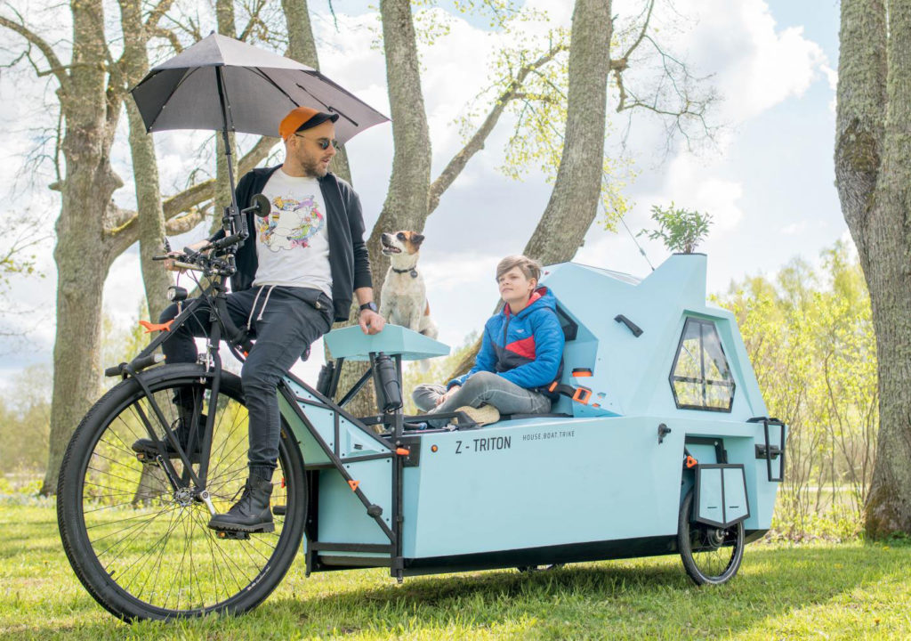 Zeltini Z-Triton Houseboat Trike allows you to travel both land and sea.