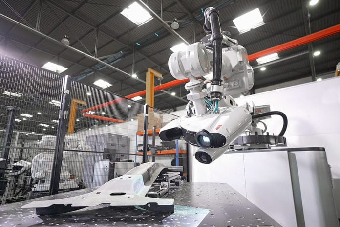 ABB's new 3DQI robot cell makes quality control testing ten times faster.
