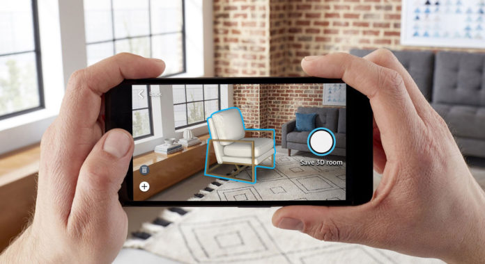 Amazon's new AR shopping tool lets you decor your room with virtual furniture.