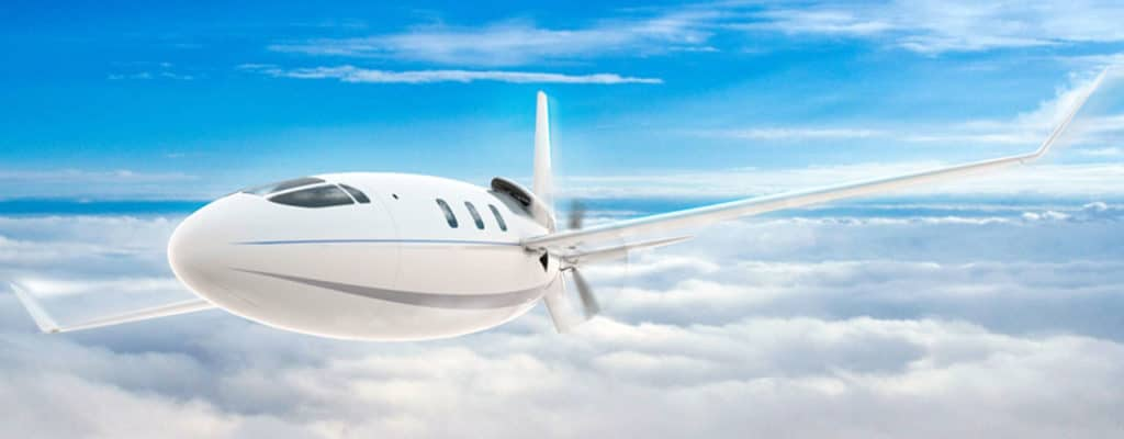 The aircraft has a maximum cruise speed of 450 mph and a range of over 4,500 miles.