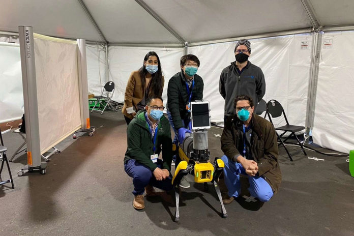 Dr. Spot robot remotely measures vital signs and help in pandemics
