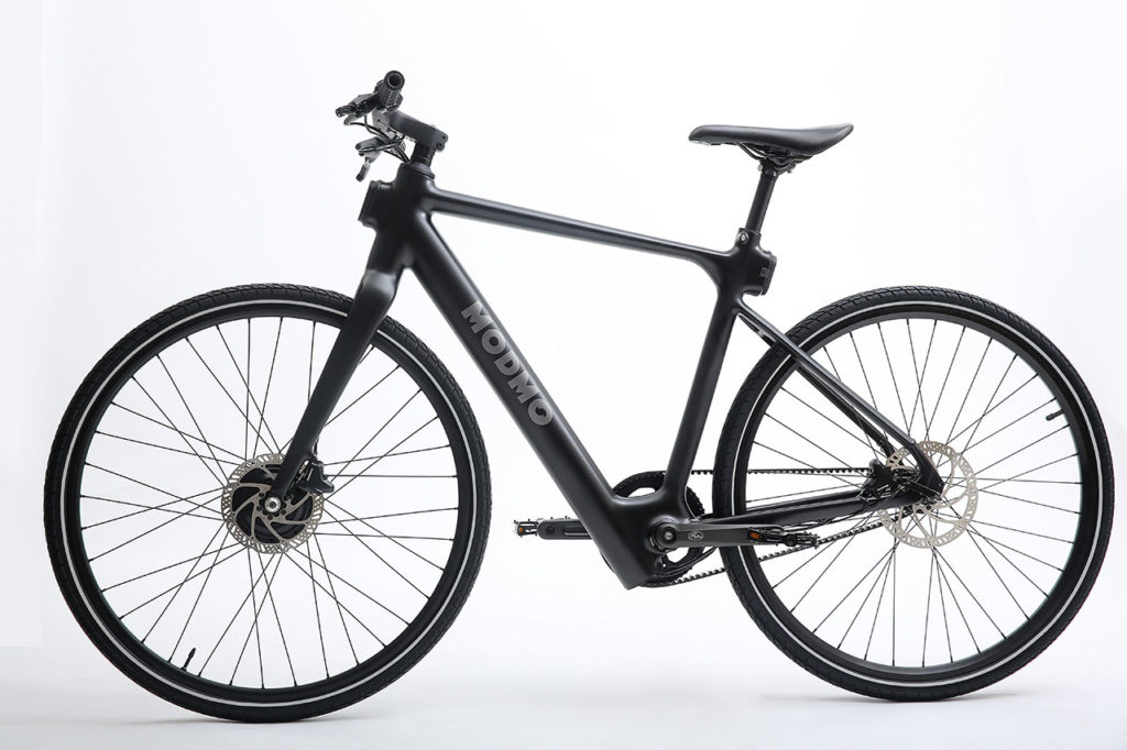 The electric bike can travel 200 km on a single charge.