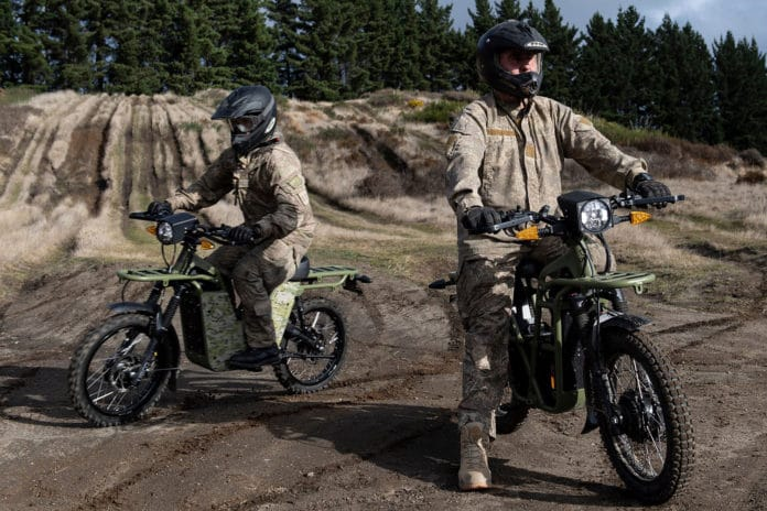 The New Zealand Defence Force has begun trialling electric utility bikes.