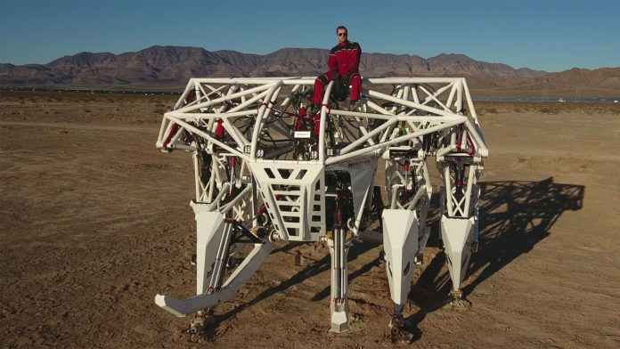 Prosthesis, a giant 9,000-pound mech suit that you can pilot.