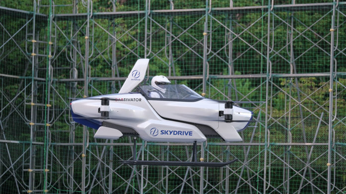 SkyDrive conducts first manned flight test of its SD-03 flying car.