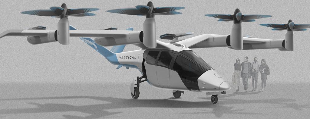 The design showcases 8 rotor sets, including 4 forward tilting rotors.