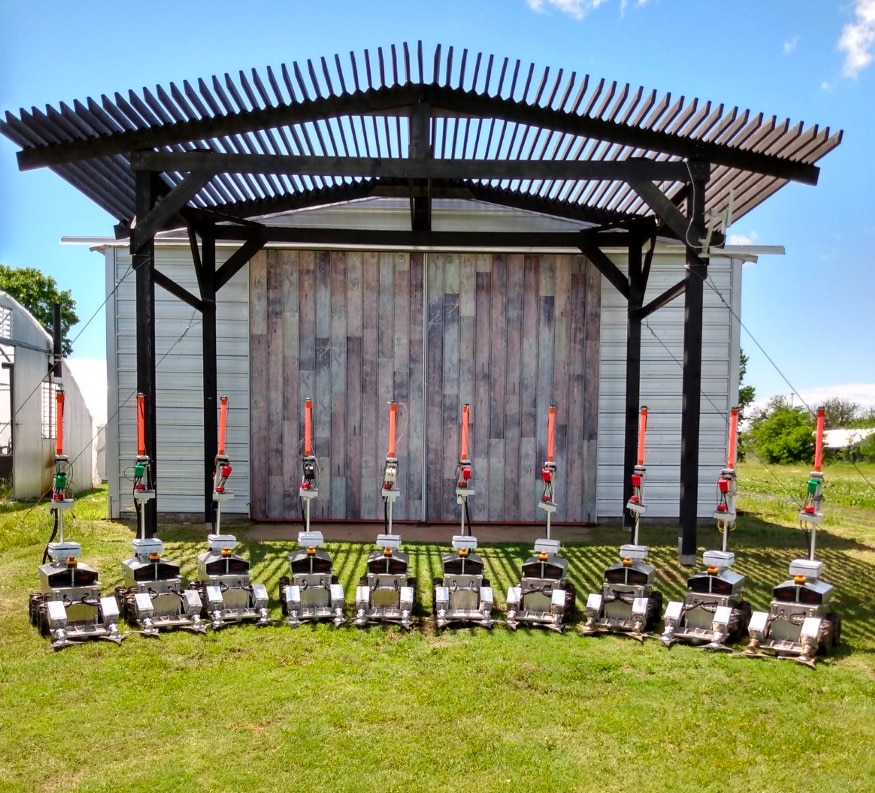 Greenfield uses a fleet of lightweight robots to eliminate weeds without pesticides.