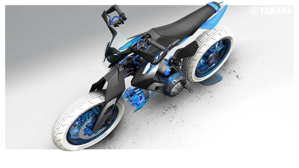 The steering mechanism of the bicycle is also striking.