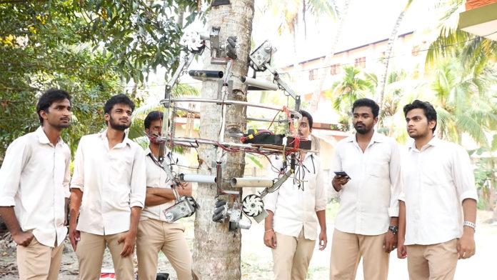 Amaran, a novel robotic coconut tree climber and harvester