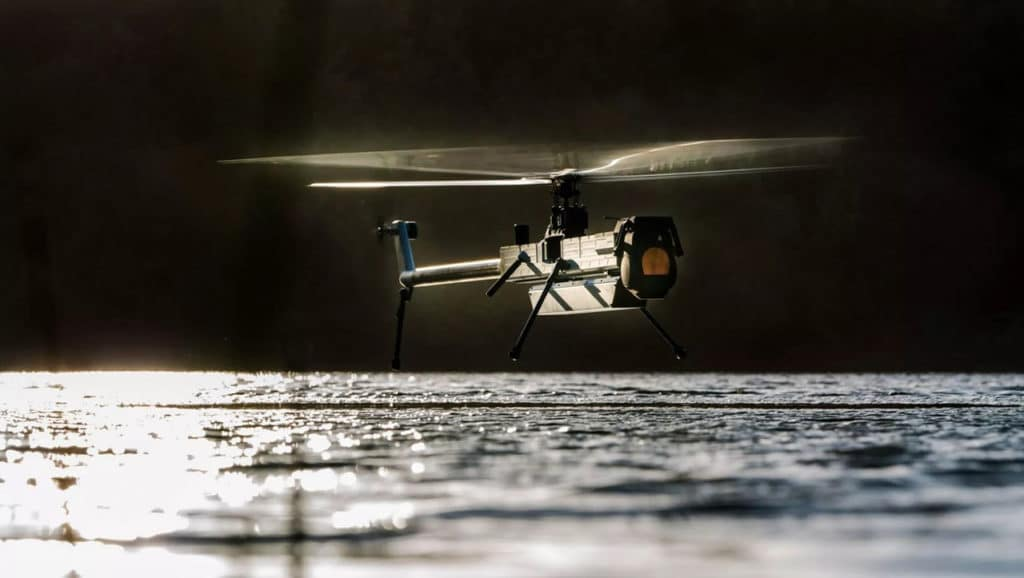 The drone is capable of flying over 100 minutes.