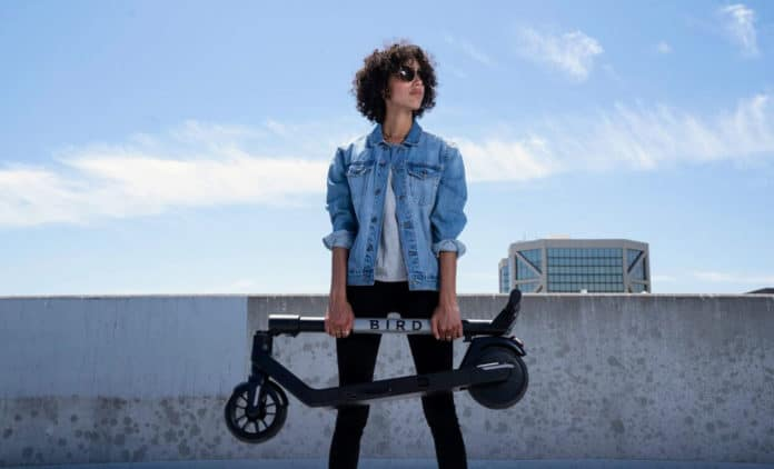 Bird Air, the new high-tech, foldable, more affordable e-scooter.