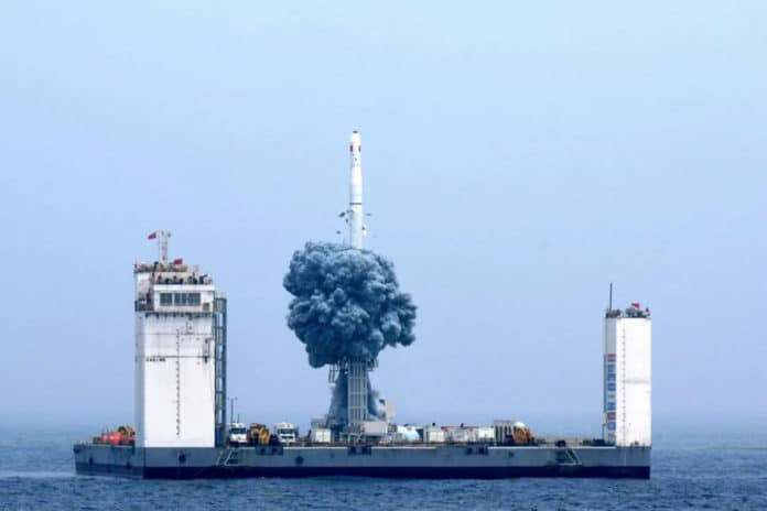 China is building a floating spaceport to launch space missions.