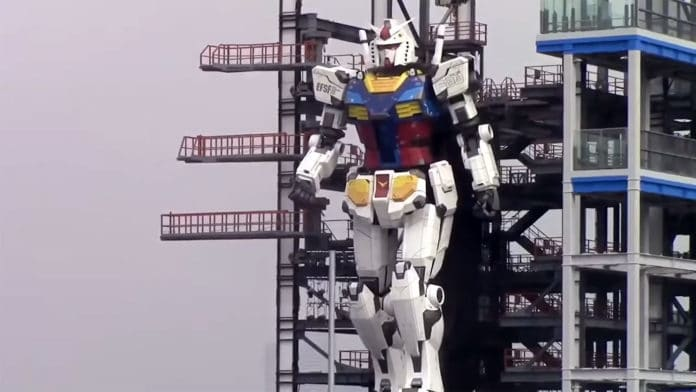 Japan's 60-foot-tall Gundam RX-78-2 robot takes 'its first steps'