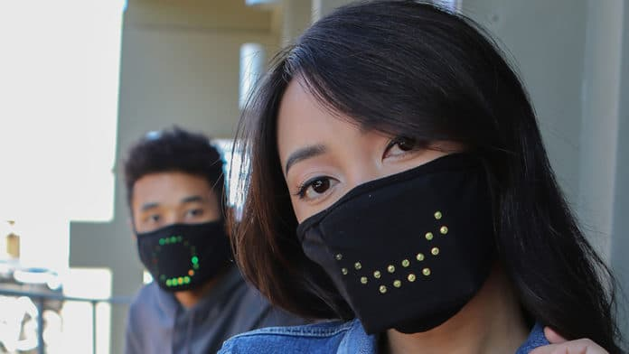 JabberMask can smile or mimic your mouth while speaking.