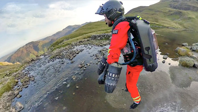 British engineers successfully test world's first Jet Suit paramedic.
