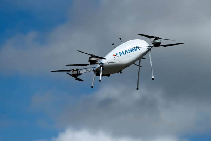 Tesco to trial home delivery of groceries with drones.