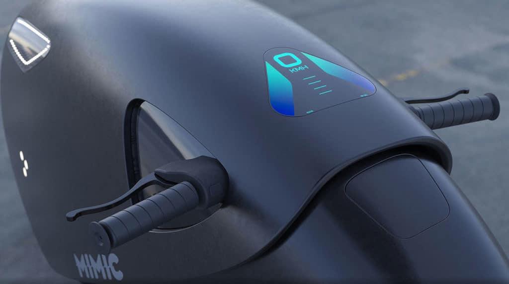 The Mimic Superbike Concept Digital Dashboard.