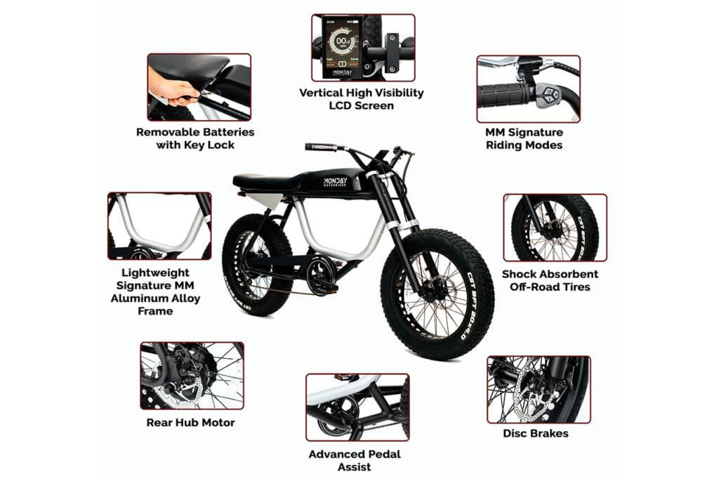 Monday Motorbikes Anza Features