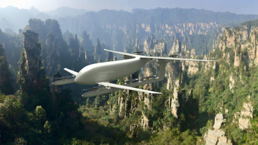 Nuuva V300 in flight.