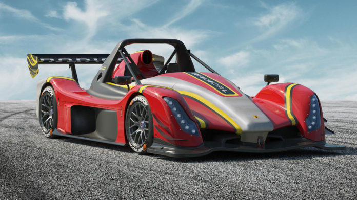 New Radical SR10, a lightweight racetrack cars with 425 horsepower.