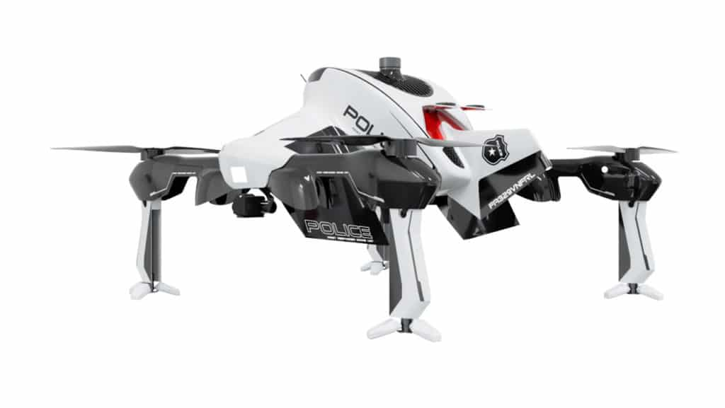 Sonin Hybrid Recruit Police Drone.