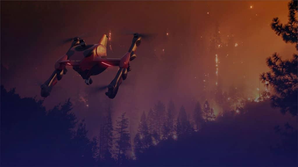 Sonin Hybrid Recruit Firefighting Drone.