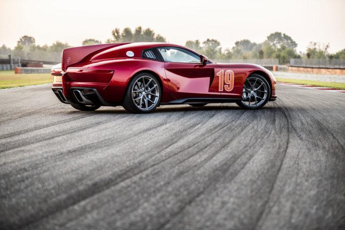 Touring Superleggera Aero 3, a retro-styled supercar with a Ferrari engine.