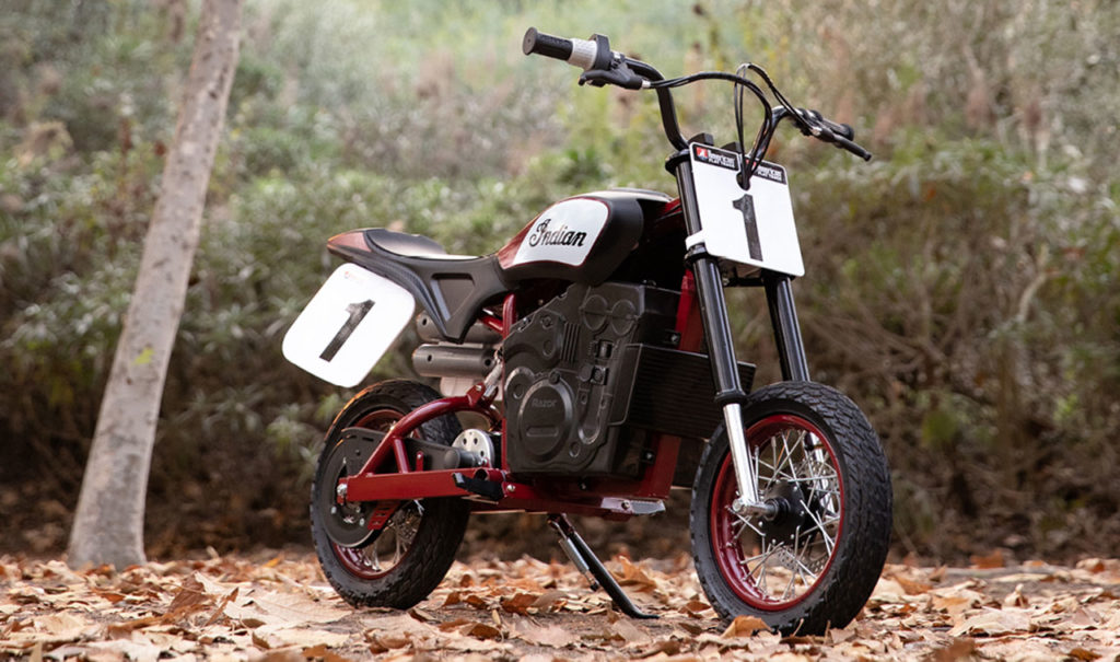 The all-new electric mini-bike is unique in its dynamic styling