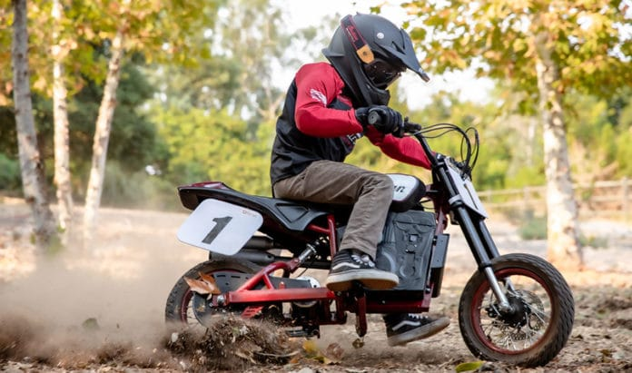 Introducing the eFTR Jr, an electric mini-bike for youth.
