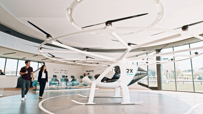 Volocopter opens reservations for its first electric air taxi flights.