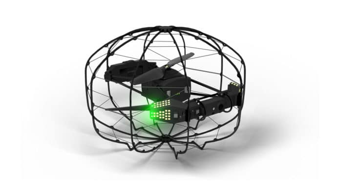 Flybotix's ASIO indoor inspection drone can fly safely for up to 24 minutes.