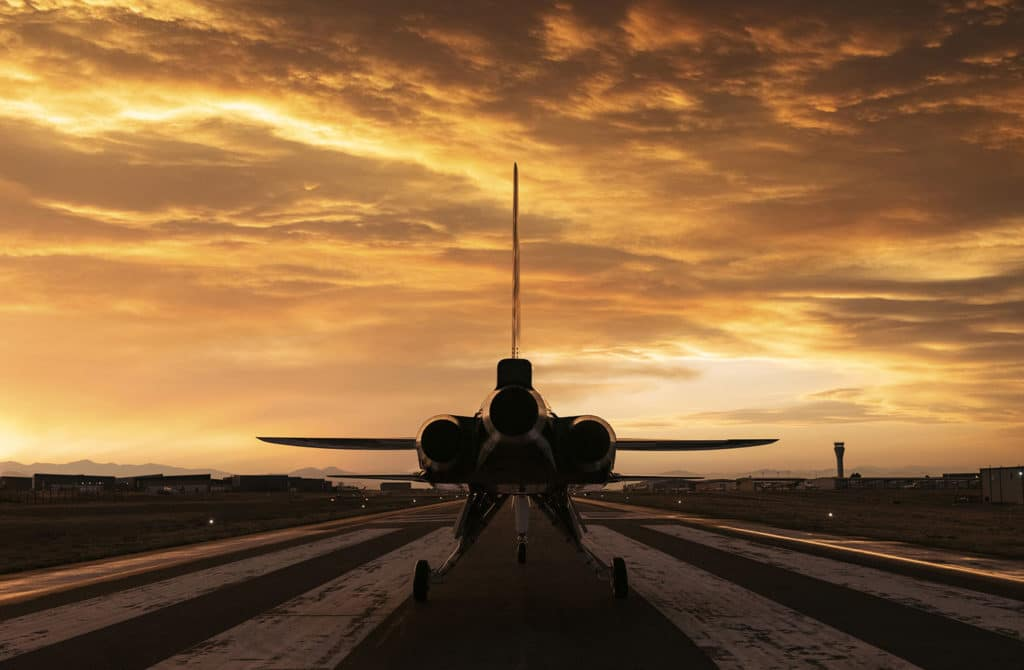 XB-1 at sunset.