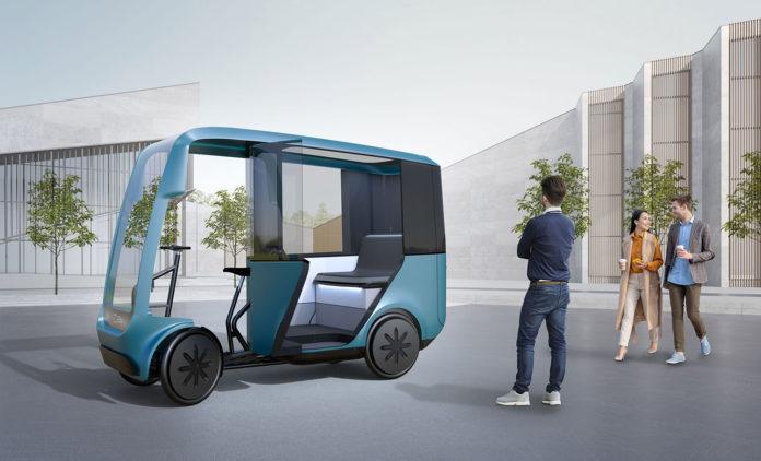 EAV presents new EAV Taxi for future urban ride-hailing.