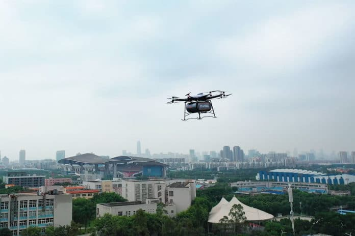New EHang 216L cargo drone can carry up to 200 kg of payload.