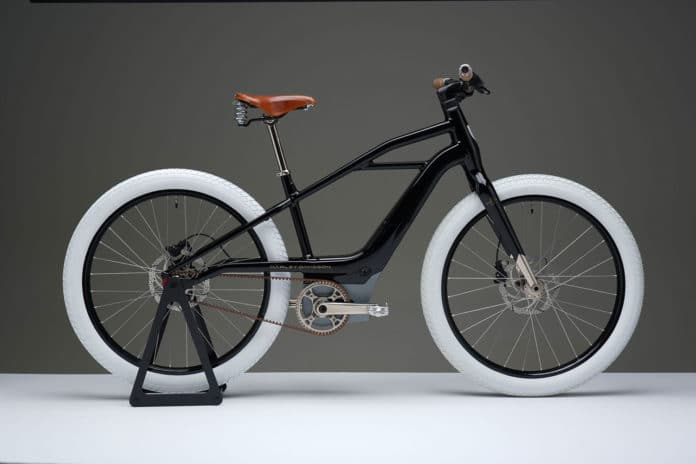 This is the prototype of Harley-Davidson's first electric bike.
