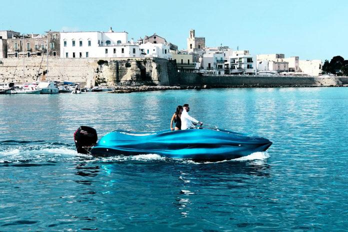 MAMBO, the world's first 3D printed fiberglass boat.