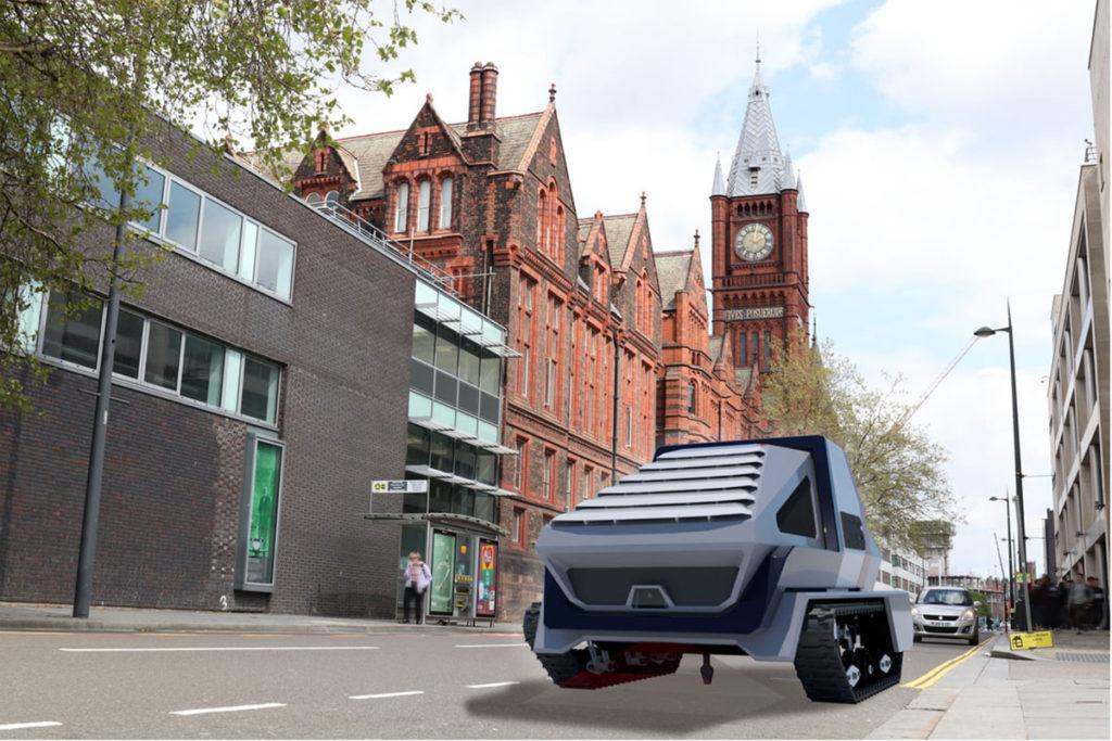 An autonomous robotic platforms addresses the expanding need for automated road maintenance.